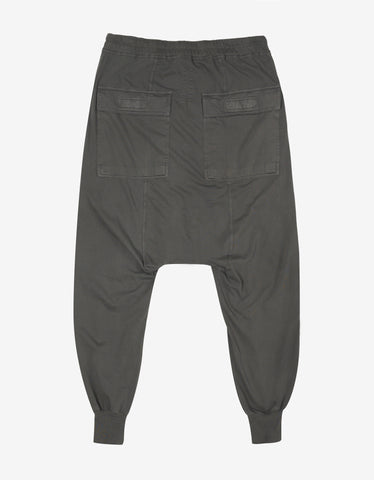 DRKSHDW by Rick Owens Prisoner Drawstring Darkdust Grey Sweat Pants