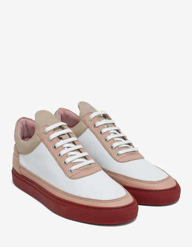 Filling Pieces Low Top Nude Bladeux White Trainers