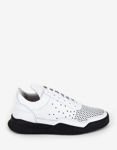 Filling Pieces Gradient Perforated White Low Top Trainers