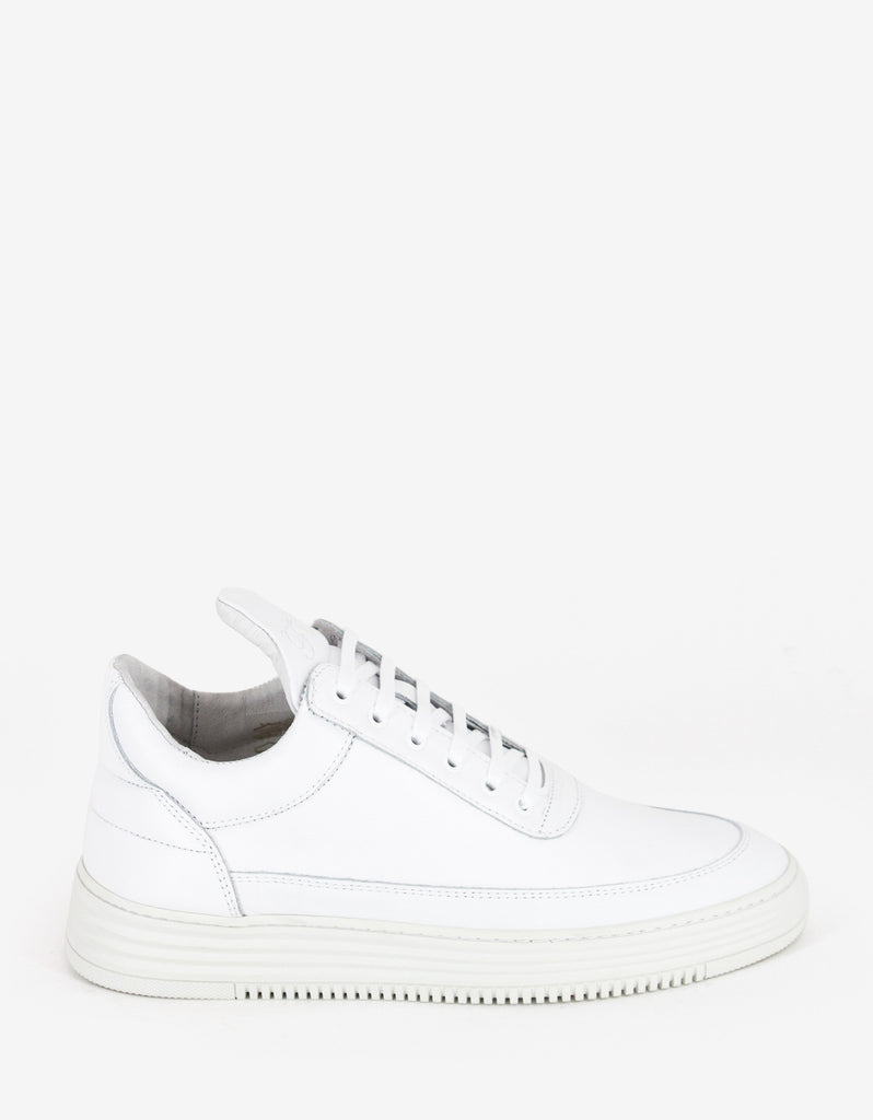 Stripe White Low Top Trainers