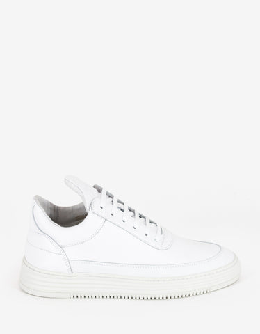 Filling Pieces Stripe White Low Top Trainers