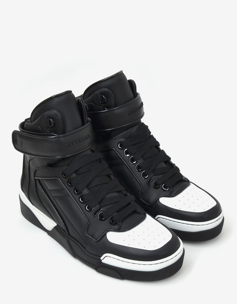 Black & White Tyson High Top Trainers