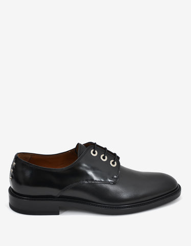 Givenchy Black Studded Leather Derby Shoes