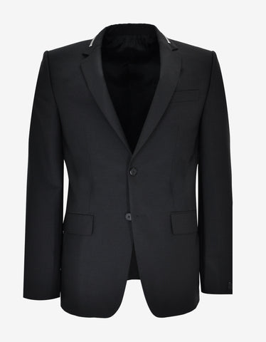 Givenchy Black Blazer with Zip Detail