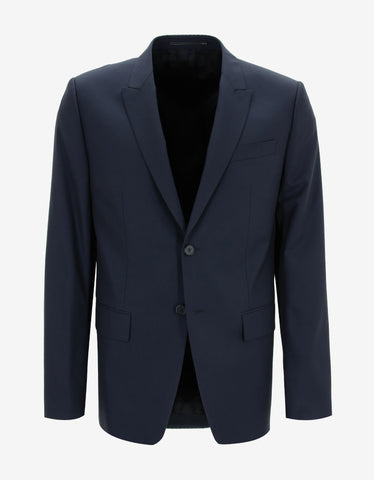 Givenchy Navy Blue Two-Button Suit