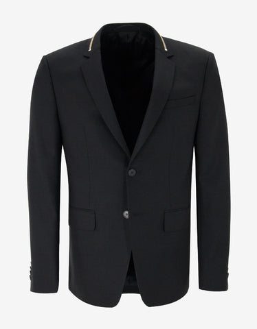 Givenchy Black Blazer with Zip Embellishment