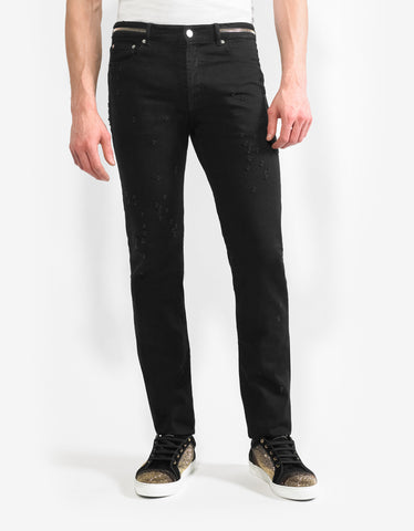 Givenchy Black Destroyed Denim Jeans