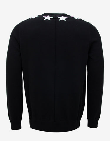 Givenchy Black Star Badge Sweater