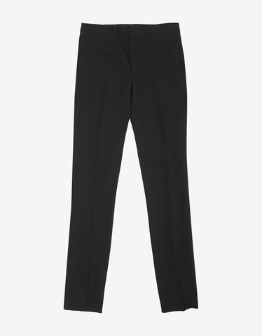 Givenchy Black Seersucker Cotton Trousers