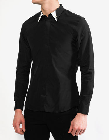 Givenchy Black Star Embellished Slim Fit Shirt