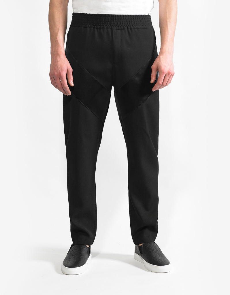 Black Casual Trousers with Silk Band