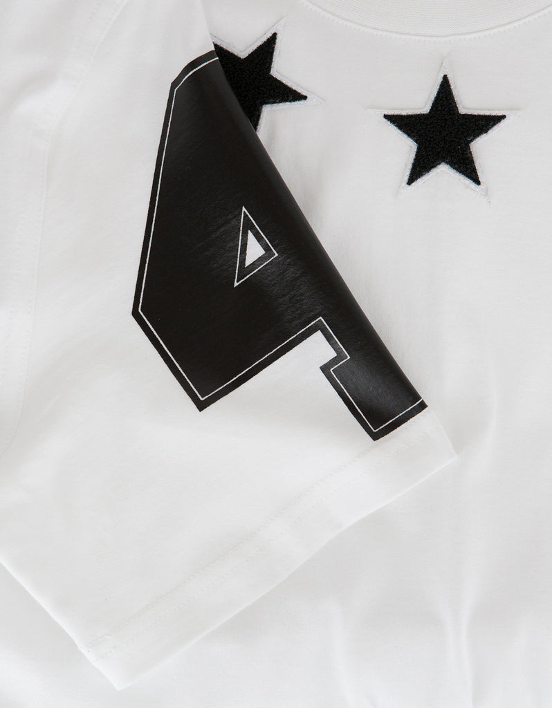 White '74' Cuban T-Shirt with Stars