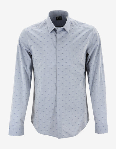 Kenzo Blue Eye Graphic Slim Fit Shirt