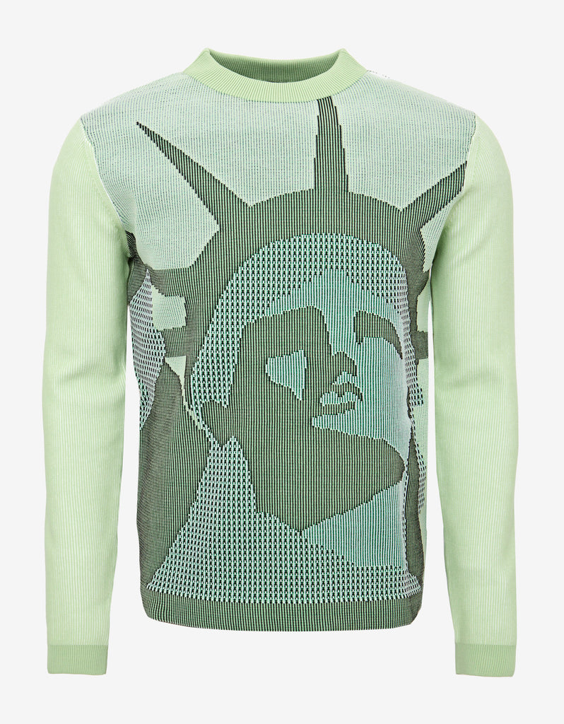 Green Statue of Liberty Knitwear