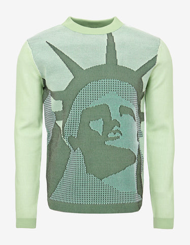 Kenzo Green Statue of Liberty Knitwear