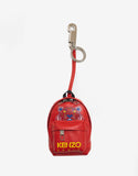 Red Tiger Backpack Leather Keychain