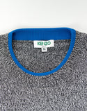 Grey Melange Tiger Badge Sweater