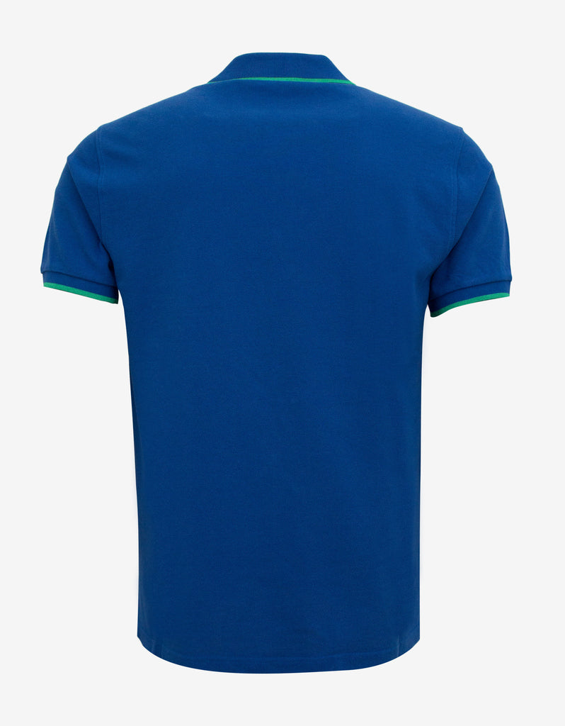 Blue K Fit Tiger Badge Polo T-Shirt
