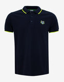 Navy Blue K Fit Tiger Badge Polo T-Shirt