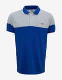 Blue & Grey Tiger Badge Polo T-Shirt