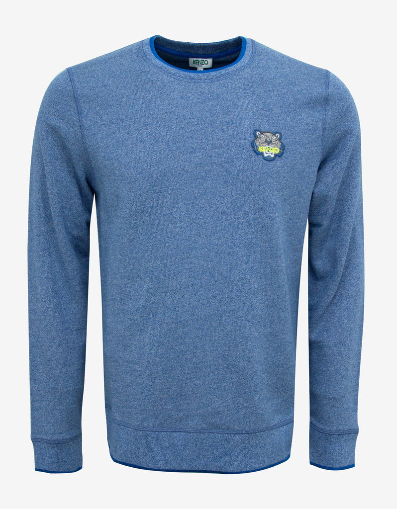 Blue Tiger Badge Crew Neck Sweatshirt