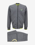 Grey Tiger Badge Zip Through Tracksuit