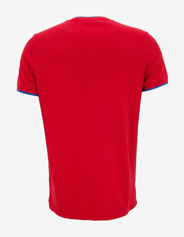 Kenzo Red Pique Crew Neck T-Shirt