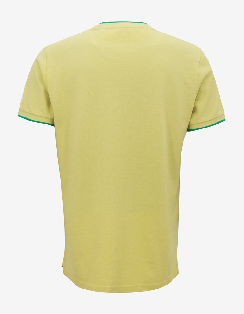 Yellow Pique Crew Neck T-Shirt