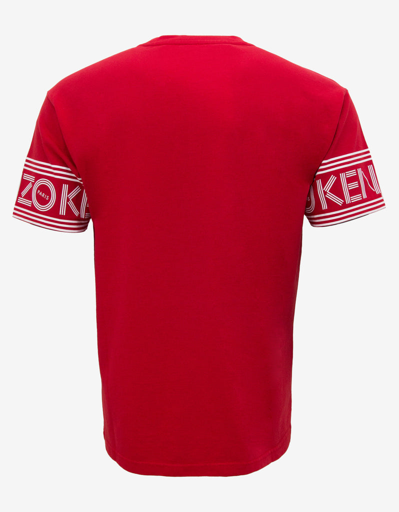 Red Logo Sleeve T-Shirt