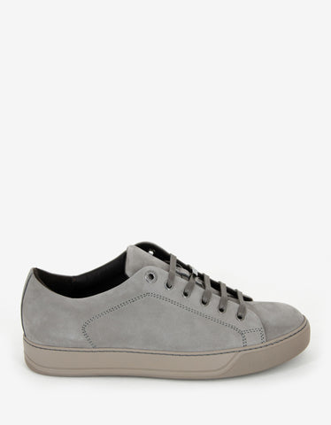 Lanvin Grey Nubuck Leather Trainers