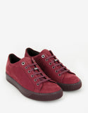 Dark Red Nubuck Leather Trainers
