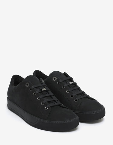 Lanvin Black Nubuck Leather Trainers
