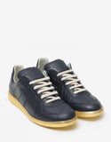 Replica Blue & Gold Leather Trainers