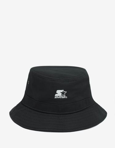 Marcelo Burlon Cruz Black Bucket Hat with Logo