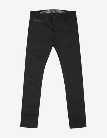 Marcelo Burlon Black Slim Fit Denim Jeans