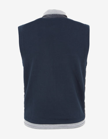 Moncler Navy Blue Contrast Fabric Gilet