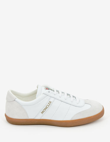 Moncler White Leather Biarritz Trainers