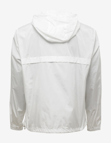Moncler Fayence White Nylon Windbreaker