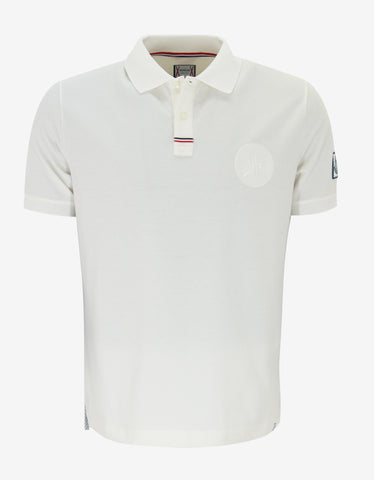 Moncler Gamme Bleu Off-White Logo Badge Polo T-Shirt