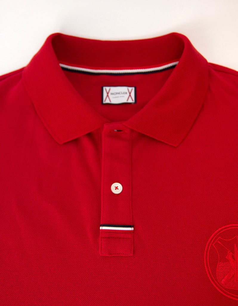 Red Logo Badge Polo T-Shirt