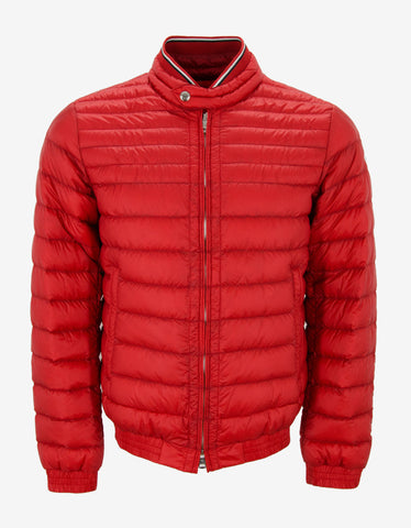 Moncler Garin Red Lightweight Down Jacket