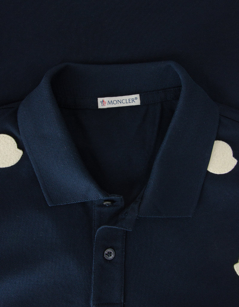 Dark Blue Logo Silhouette Polo T-Shirt