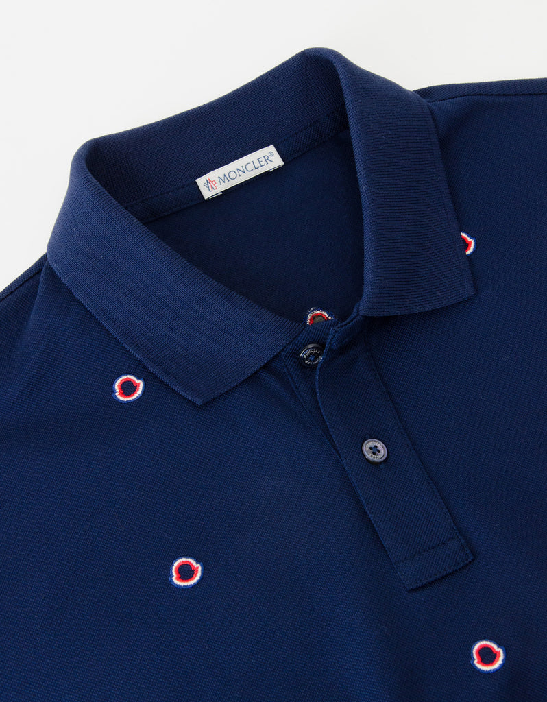 Navy Blue All-Over Logo Polo T-Shirt