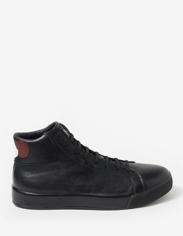 Moncler Romain Black High Top Trainers