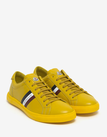 Moncler Monaco Yellow Leather Trainers