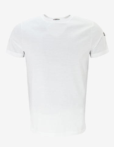 Moncler White Tricolour Trim T-Shirt