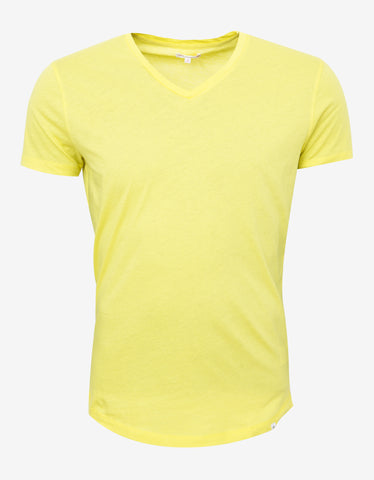 Orlebar Brown Citrus Yellow Bobby V-Neck T-Shirt