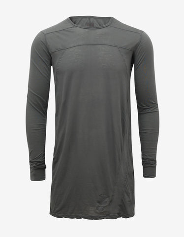 DRKSHDW by Rick Owens Darkdust Grey Geo Long Sleeve T-Shirt