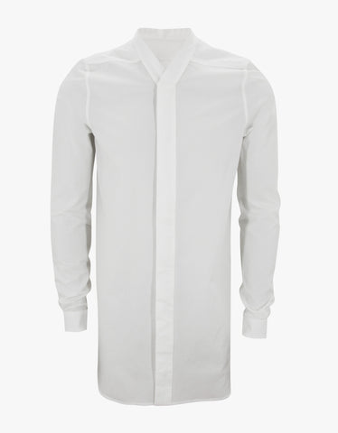 Rick Owens Milk White Long Body Shirt