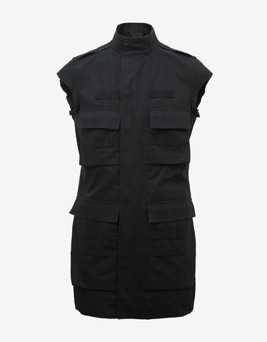 Rick Owens Black Sleeveless Parka